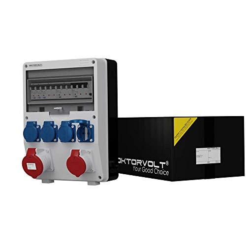 Stromverteiler TD-S/FI 1x16A 1x32A 4x230 Baustromverteiler Wandverteiler 6442