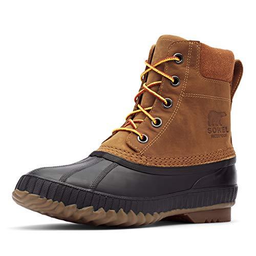Sorel Men's Cheyanne II Snow Boot, Chipmunk, Black, 10 D US