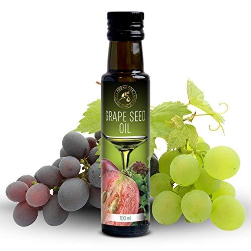 Traubenkernöl 100ml - Raffiniert - Italien - 100% Rein & Natürlich - Traubenöl für verschiedene...