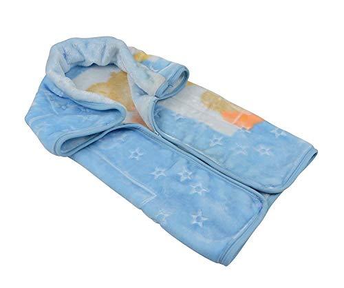 Kuscheldecke Schlafsack Fußsack Babydecke 80x90 cm Baby Sac® Ster® Belpla® (blau)