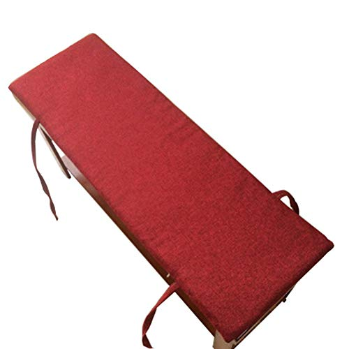 POETRY ping bu Outdoor Bench Cushion Garden Swing Cushion Long Bench Cushion Thick Soft Zippered Seat Mat for Travel-2 Indoor Sofa 3 Seats (Red 100x30x2cm)