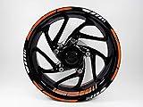 Bike Label 710036A - Juego de Adhesivos para llanta para KTM 125 Duke