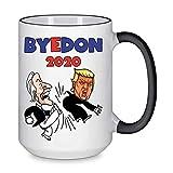 The Oracles BYEDON 2020 Cartoon Coffee Mug Bye Don Joe Biden Donald Trump Gray Granite Ceramic 15oz