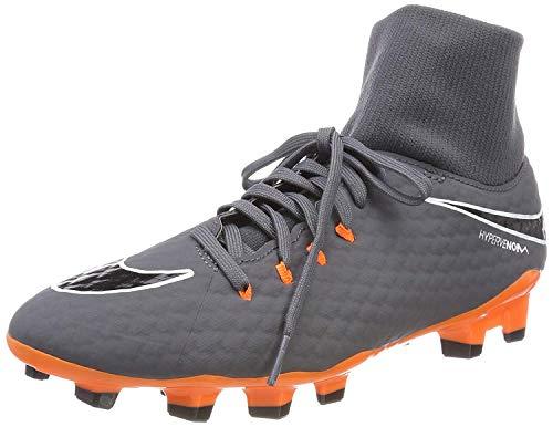 Nike Men's Phantom 3 Academy DF FG Soccer Cleat (9 D(M) US, Dark Grey/Total Orange/White)