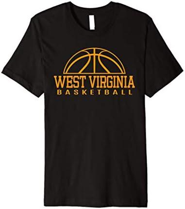 West Virginia Basketball Player W Va Team Mountaineer State Premium T Shirt product image