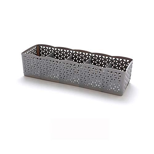 Mdsfe 5 cellen plastic organizer opbergdoos Tie Bra sokken lade cosmetica divider hoogwaardige housekeeping container organizer # 30 - grijs
