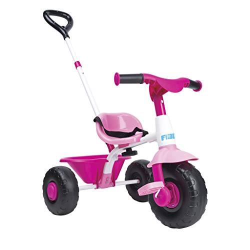FEBER- Triciclo Trike 2 niñas de 1 a 3 años, Color Rosa (Famosa 800012811)