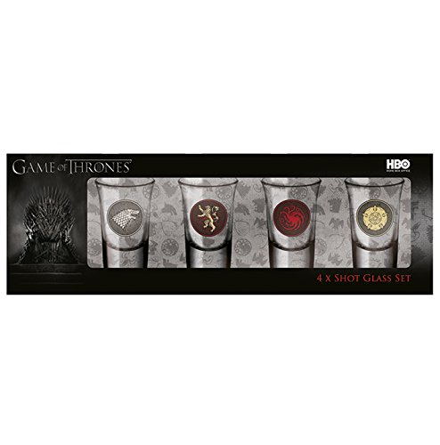 Pyramid International Game of Thrones (4 x Shot-Glas-Set), Mehrfarbig, 31 x 8 x 10.5 cm
