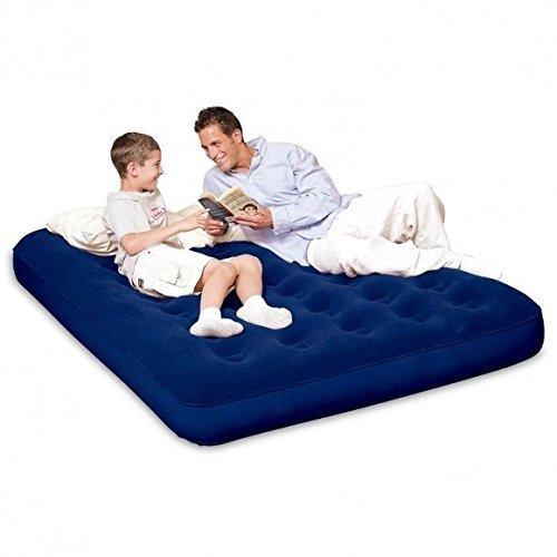Bestway Doppel-Luftbett, beflockt aufblasbar Home Camping Air Betten Matratze Komfort