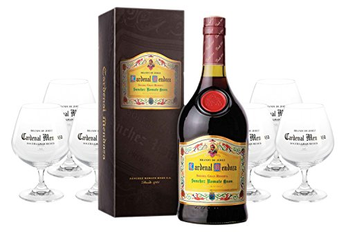 Cardenal Mendoza spanischer Brandy 0,7 Liter + 6 Cardenal Mendoza Gläser
