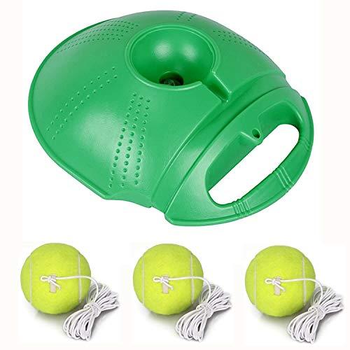 SevenPanda Twistballset, Ersatzball mit Karabiner für Twistball-Set Kindersport Twistballspiel Klassischer Swingball Tennistrainer Base & Tennisball (Grün + 3 Ersatzball)