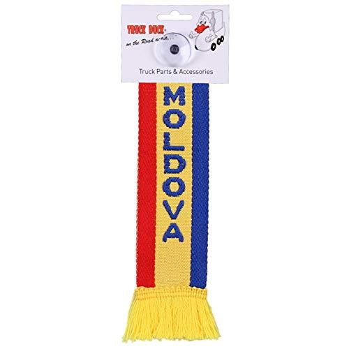 TRUCK DUCK® LKW Auto Minischal Moldawien Moldova Mini Schal Wimpel Flagge Fahne Saugnapf Spiegel Deko