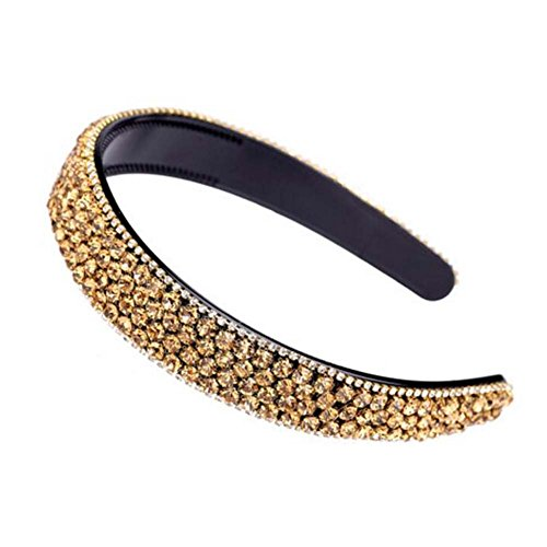Rhinestone Hair Hoop Headband Bandeau Bling Bling bande perlée avec dents