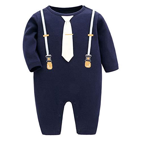 Famuka Baby Junge Smoking Taufe Hochzeit Babykleidung Neugeborenen Strampler (C, 90)