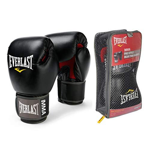 Everlast 12-Ounce Pro Style Muay Thai Gloves, Black