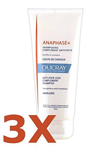 3 x Ducray Anaphase + stärkendes Shampoo gegen Haarausfall 200 ml - revitalisierend