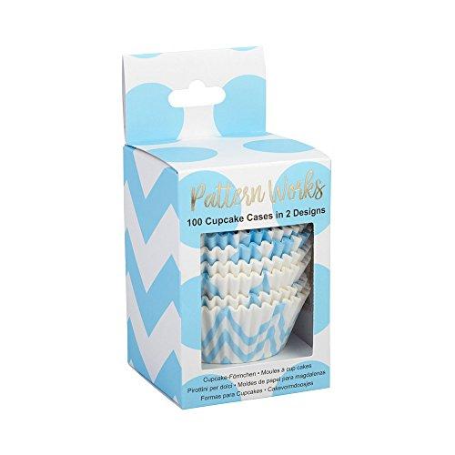 Neviti Motif Fonctionne – Caissettes Bleu, Lot de 100