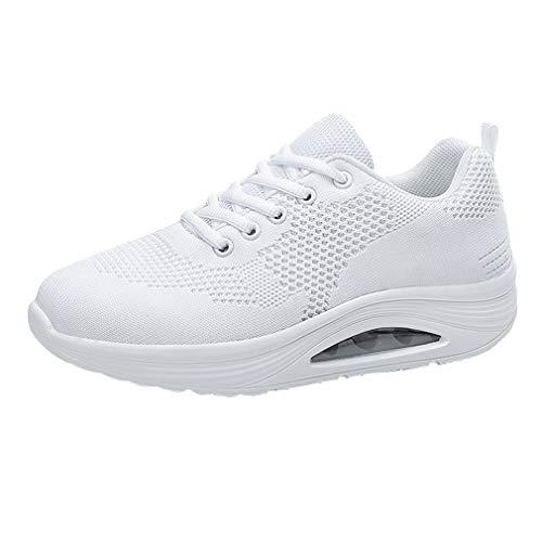 chenqi Chaussures de Course sur Route pour Femme Espadrilles légères et Respirantes Absorbant Les Chocs en Mesh Respirant pour la Marche Sportive Tous Les Jours