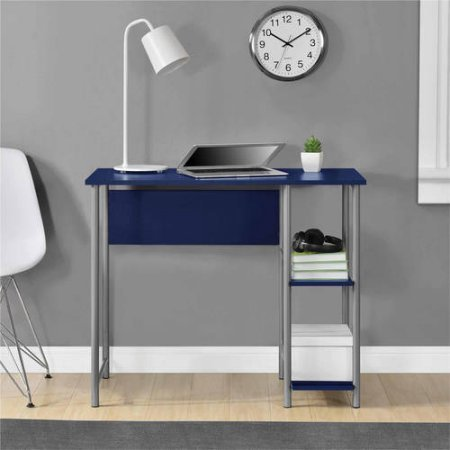 Mainstays Basic Metal Student Computer Desk, Blue