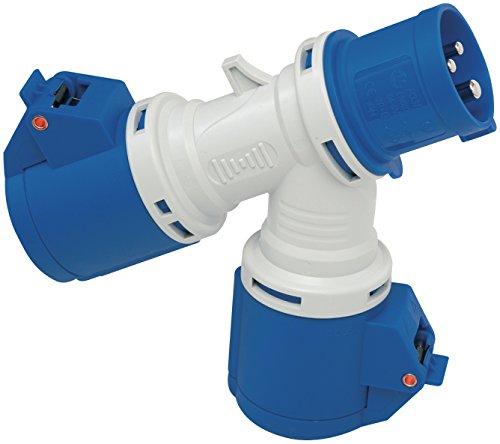 Brennenstuhl 1081582 Distributore a 2 prese, spina e 2 prese CEE 230V/16A 3 poli (IP44)