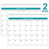 2020 Calendar - 2 Pack Monthly Wall/Desk Calendar, Generous Memo Lined Pages with A4 Premium Thick Paper, January 2020 - December 2020, Bonus 2020 Yearly Planning, 11 x 8.5 Inches