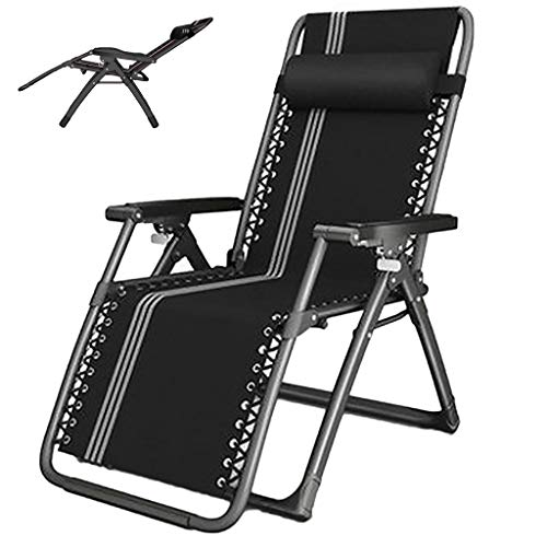 XYF Sunloungers Reclining Garden Chairs Zero Gravity, Sun Loungers For Garden, Reclining Patio Chairs, Balcony Beach Relax Lounge With Headrest, Camping Chair, Max 140kg