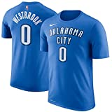 Nike Russell Westbrook Oklahoma City Thunder NBA Youth 8-20 Blue Dri-Fit Performance Official Player T-Shirt (Youth Small 8)