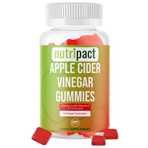 High Strength Apple Cider Vinegar Gummies - Enhanced with Vitamin C, Chromium & Pomegranate Extract - 1000mg ACV per Serving - 60 Gummies not Capsules or Tablets - Vegan & Gluten-Free
