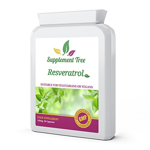Resveratrol 150mg 90 Vegetarian Capsules | High Strength Trans-Resveratrol from 98% Standardised Japanese Knotweed | UK Manufactured
