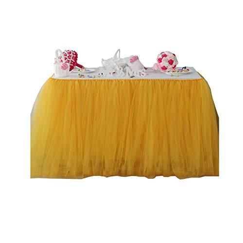 YiyiLai - Party-Tischröcke in Gelb, Größe Länge:100cm,hohe:80cm