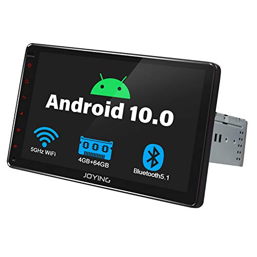 JOYING 9 Inch Single Din Touch Screen with in Dash Android 10 Car Stereo Multimedia Player Fiber-Optic Output Support 4G SIM Card/ 5Ghz WiFi/FM Radio/Fastbooth/GPS Sat Navigation