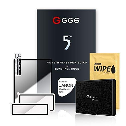 Screen Protector Displayschutz Glas 9H Oberflächenhärte für Canon 5D Mark III