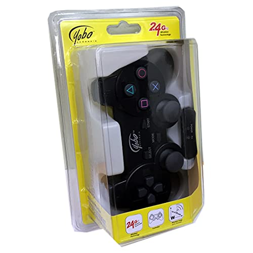 Yobo PS2 Wireless Game Controller Black for Sony PlayStation 2 System