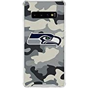 Officially Licensed Seattle Seahawks NFL Galaxy S10 Clear Case Transparent & crystal clear Galaxy S10 Case Thin, compact & slim phone case construction with shock-absorbing air pocket corners. Finished With A Premium Seattle Seahawks Vinyl Decal Made...