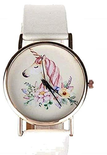 Reloj de Pulsera Unicornio Blanco Idea cumpleaños