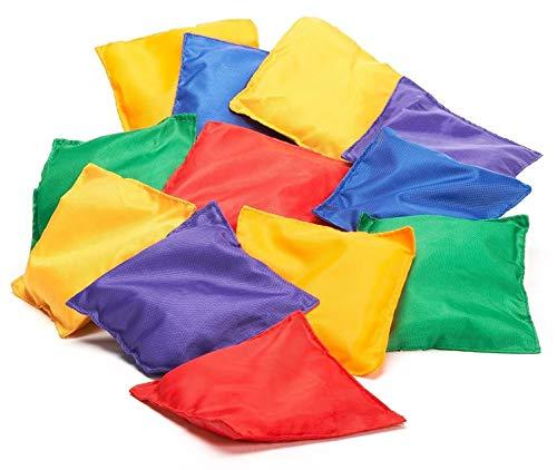 16er Pack Nylong Bean Bags, spaßiges Sportspiel Bean Bag Karnevalspiel, Bean Bag Wurfspiel
