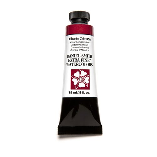 DANIEL SMITH Extra Fine Watercolor 15ml Paint Tube, Alizarin Crimson