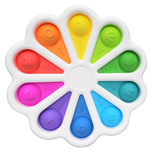 VOUNEDA Juguetes sensoriales Agua Dulce bebés, bebés descompresión Simple Juguetes,Juguetes apiñamiento Fidget,Juguete sensorial de Juguete antiestrés Juguete Dedo único niños Adultos
