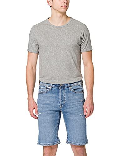 Jack & Jones JJIRICK Jjoriginal NA 312 Pantalones Cortos, Azul Denim, M para Hombre