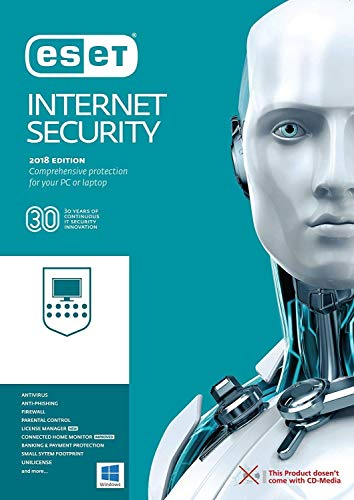 ESET Internet Security 2019 | 10 Devices 2.5 Years | Download Key via Email | Registration Code- No CD
