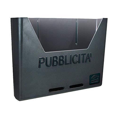 Alubox 47231 Carosello Cassetta Raccogli Pubblicità in policarbonato, Colore Ghisa