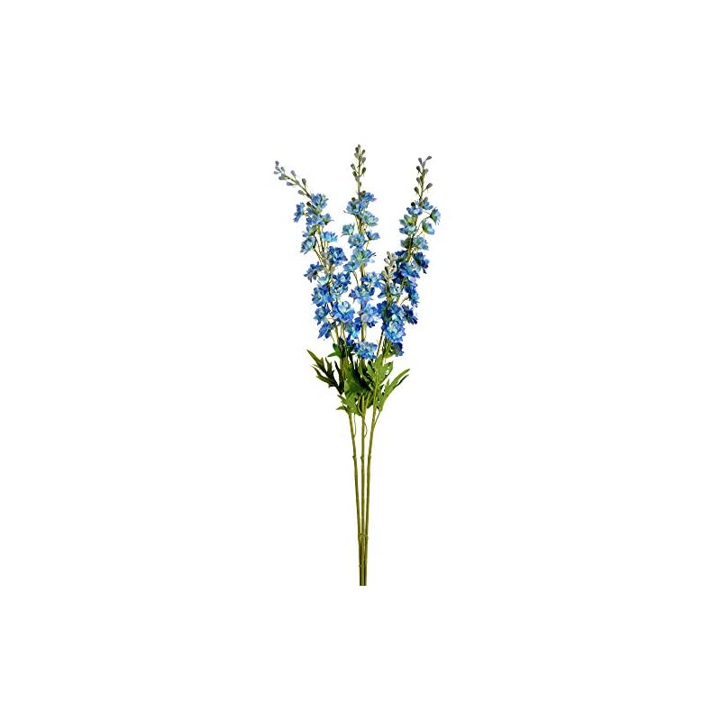 """silk flower arrangements vickerman wild lupine spray artificial-flowers, 33.5"""", blue, 3 piece"""