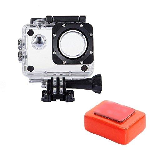 TEKCAM Action Camera - Carcasa impermeable con esponja flotante compatible con AKASO EK7000/Dragon Touch/LeadEdge/Victure/SJ4000/COOAU/VEMONT/GOOKAM resistente al agua hasta 30 m