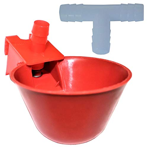 Rite Farm Products (6) AUTO Waterer Drinker Cups & Barbed Fittings Chicken Poultry