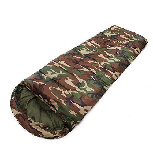 STC Sleeping Bag Cum Mattress With Cape, Waterproof, Camouflage Military Green Color(...