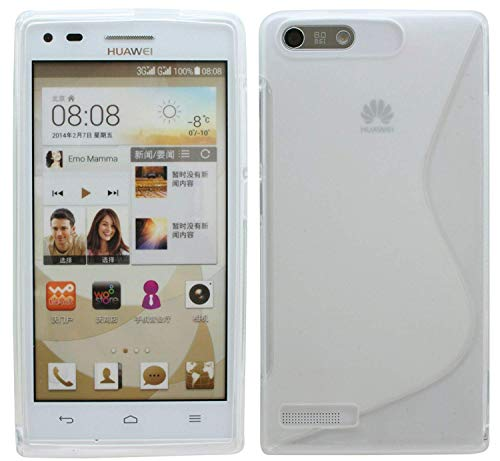 ENERGMiX S-Line TPU SchutzHülle kompatibel mit Huawei Ascend P7 Mini Silikon Hülle in Transparent