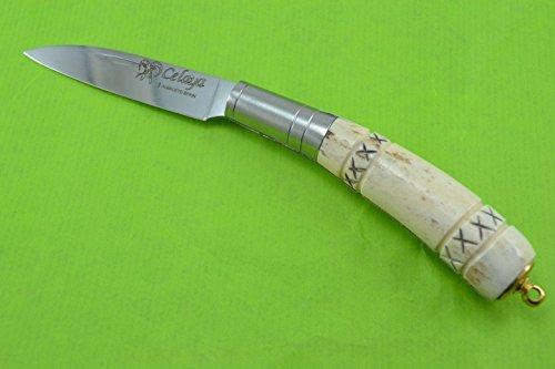 Navaja Celaya Gallega Llavero Ciervo tallado 7,5 cm