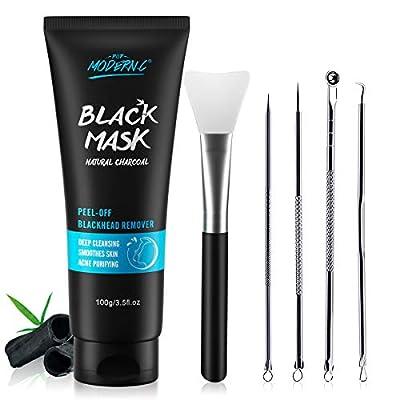 Peel Off Mask Black Mask Charcoal Blackhead Removal Mask Facial Black Mask Skin Cleansing, Purifying Bamboo Charcoal With Blackhead Remover Extractor Tools Kit & Mask Brush