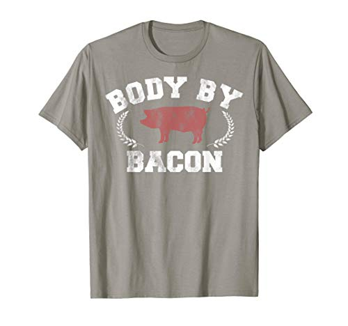 Body By Bacon Pig Vintage Collegiate Graphic T-Shirt