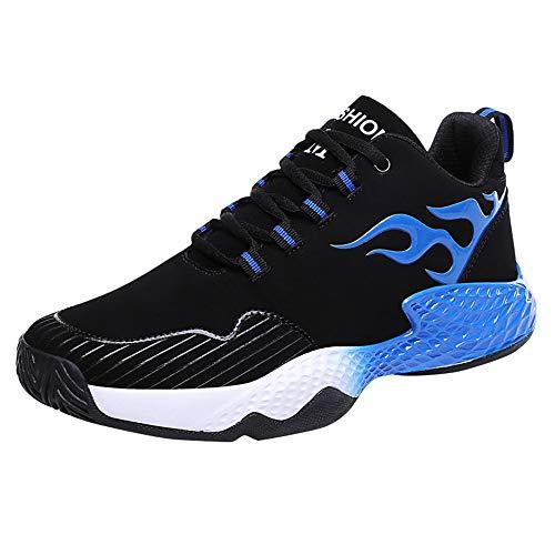 Dorical Herren Sicherheitsschuhe Damen Arbeitsschuhe Turnschuhe Schutzschuhe Fitness Laufschuhe Sportschuhe Schnüren Running Sneaker Netz Gym Schuhe, Ultraleicht Gym Turnschuhe(Blau,39 EU)